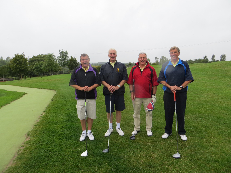 Captain Roger with Bob Webber, Somerset Captain Bob Acland and Colin Warns Taunton Vale Captain